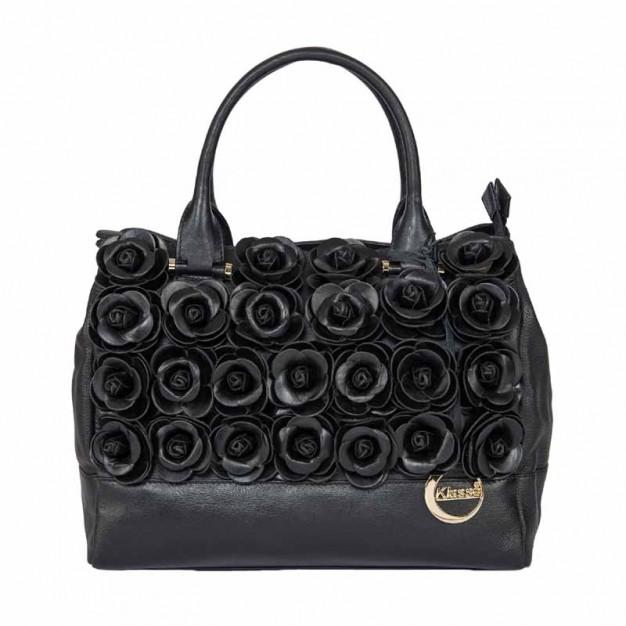 51ee1c7687 Women s Pure Leather Top Handle Hand Satchel Side Bag - Hand-held Bags -  Handbags - Women - Klasse Leather